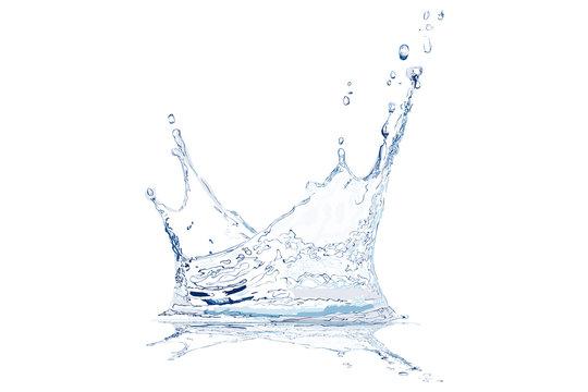 Realistic Water Splash. Vector Illustration.