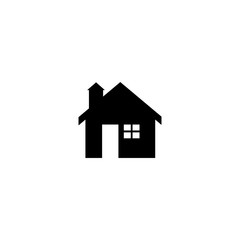 Pictogram home icon. Black icon on white background.
