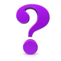 question mark 3d purple violet lila rendering icon symbol isolated white background hd