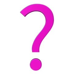 question mark 3d rosa pink isolated on white background rendering icon symbol high resolution