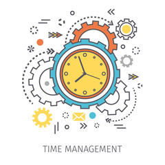 Concept of time management.