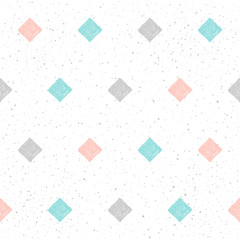 Doodle square seamless pattern background.
