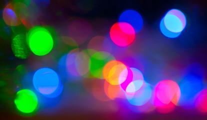 Bright glare on a dark background