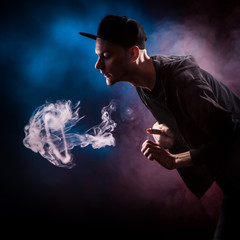 Vape Man Doing Cloud Tricks