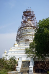Restoration of stupa