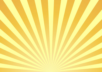 Abstract yellow sun rays background