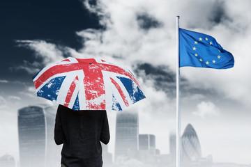 brexit angleterre sortie zone euro union européenne europe politique vote voter drapeau choix royaume uni anglais parapluie londres pays capitale