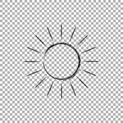 Sun icon vector grunge