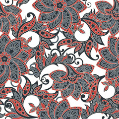 Asian floral seamless pattern