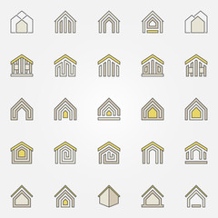 House colorful icons