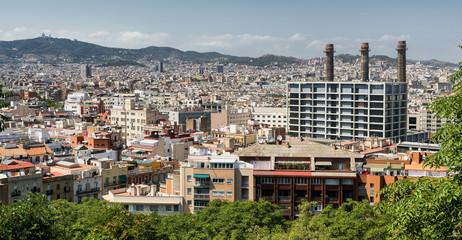 Barcelona (Spain): view from Montjuic