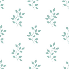 Herbs seamless pattern. Scandinavian background. Wallpaper design.