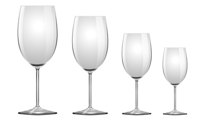 Vector Realistic Wineglass