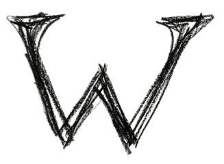 Papier Peint - Handwritten sketch black Letter W