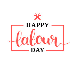 Happy Labour Day illustration concept with wrenches.1st of may vector background. International Workers day logo design.