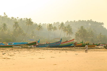 Morning in the fishing village.