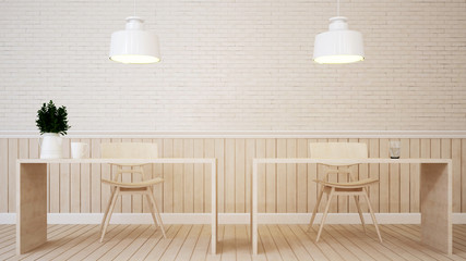 dining area in coffee shop or home - 3D Rendering