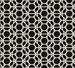 Modern geometric pattern vector seamless. Abstract textured background. Polygonal web line grid with repeat elements.