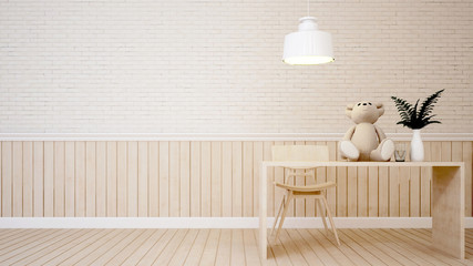 living area in coffee shop or kid room - 3D Rendering