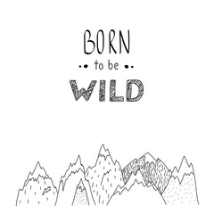 Hand drawn vector wild forest illustration