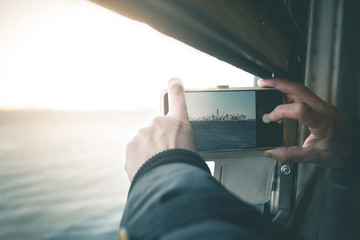 Smartphone Photography on the Ferry - New York