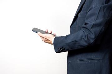Businessman using a digital smartphone