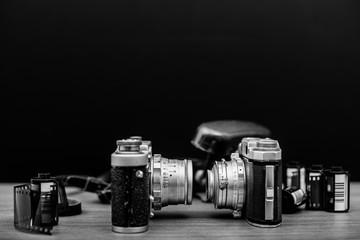 Old photo film camera