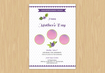Polka Dot Mother's Day Party Invitation Template