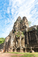 Gate of Prasat Bayon or Bayon temple in Angkor Thom, Siemreap, Cambodia