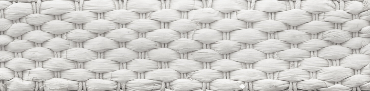 Texture of a white wicker basket
