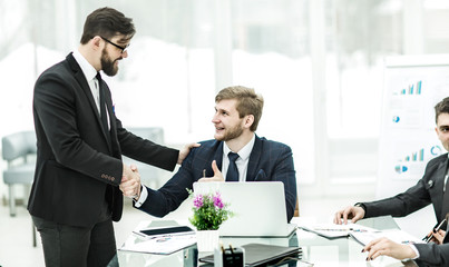 handshake Manager and the client before signing a contract in th