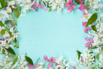 Floral Frame with Apple flowers