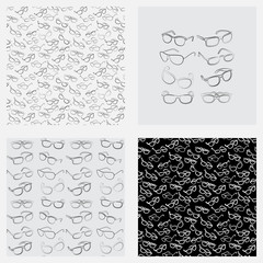 Eyeglasses. Seamless pattern. Men's Glasses, women's glasses, sunglasses