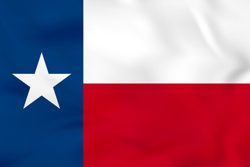 Texas waving flag. Texas state flag background texture.