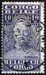 Postage stamp Belgian Congo 1928 Sir Henry Morton Stanley, Explo