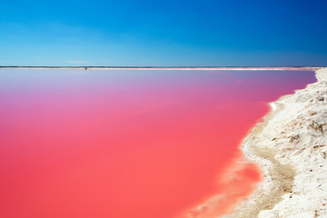 Red Lagoon for Salt Production