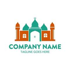 Eid Mubarak Islamic Mosque Logo