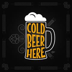 beer mug vintage design background