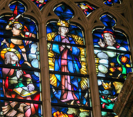 Fototapete - Stained Glass - Assumption of the Blessed Virgin Mary