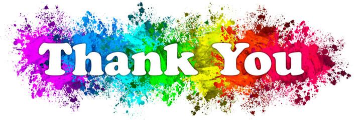 Paint Splatter Words - Thank You