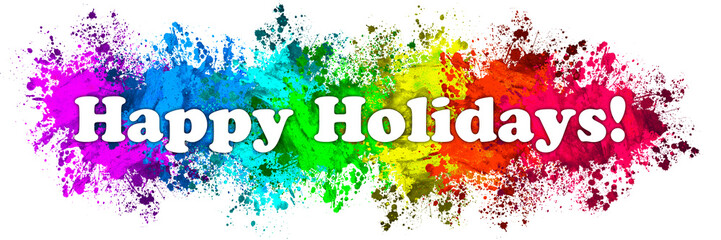 Paint Splatter Words - Happy Holidays