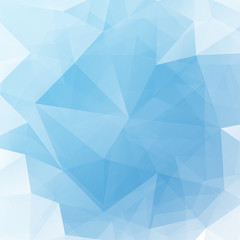 Vector illustration of blue shine triangle crystal light background