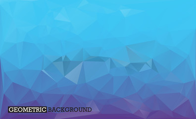 Blue and violet background low poly style