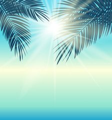 Say Hello to Summer Natural Background Vector Illustration