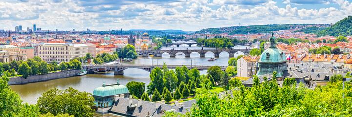 Foto op Aluminium Praag Bridges of Prague and the River Vltava Czech Republic