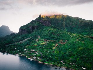 Green mountains and sea, Mo'orea, South Pacific