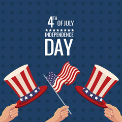 united states independence day traditional event vector illustration eps 10