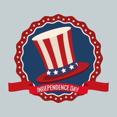 independence day united states memorial party vector illustration eps 10