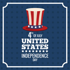 united states independence day memorial poster vector illustration eps 10
