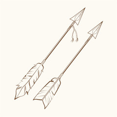 arrows american indian symbol vector illustration eps 10